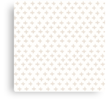 Swiss Cross in Taupe and Cream Canvas Print