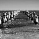 Pier today, gone tomorrow by Norman Repacholi