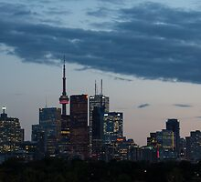 Slow Dusk - Toronto's Glowing Skyline by Georgia Mizuleva
