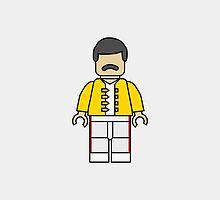 Freddie Mercury Lego Man by DanielDevoy