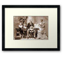 Chile 1898. My Beloved Family. Framed Print