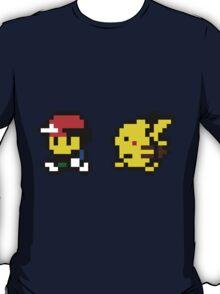 Ash & Pikachu Pixel Design - Gameboy T-Shirt
