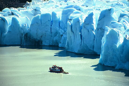 Small Ferry and Big Glacier, Chile by betelnut