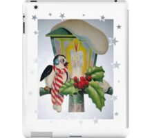 Winter Wonderland Bird Sitting On Vintage Street Lantern iPad Case/Skin