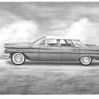 1960 Pontiac Ventura drawing by Mike Theuer