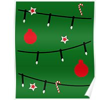 Christmas tree decorations Poster