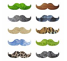Pattern Moustache Mustache Photographic Print