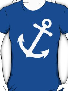 Simple White vector anchor T-Shirt