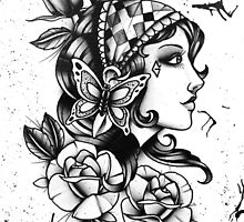 Gipsy Girl 01 by GuruTattoo