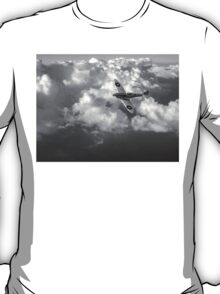 Soaring silver Spitfire black and white version T-Shirt