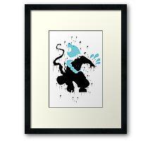 Udyr Black Ink Framed Print