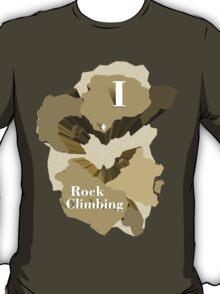 I Heart Rock Climbing Graphic Tee in Yellow T-Shirt