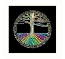 Chakra Tree Mandala Art Print