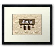 Wooden Jeep Willys [Update] Framed Print