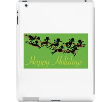 Poodle Sleigh iPad Case/Skin
