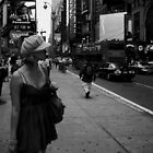 Lady in Times Square by lynt
