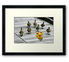 """Ten Little Ducks Went Out One Day"" Framed Print"