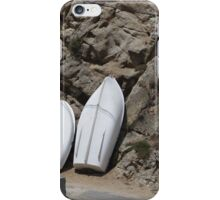 Rowing boats on the shore iPhone Case/Skin