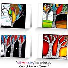 Tree Collection Cards by littlearty
