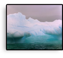 Blue Berg Mouth Canvas Print