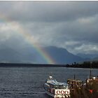 Lake  with a rainbow - Sth Island  New Zealand by lettie1957