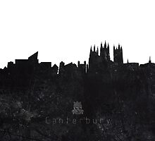 Textured Skyline of Canterbury by cantarte