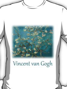 Blossoming Almond Tree, famous post  impressionism fine art oil painting by Vincent van Gogh.  T-Shirt