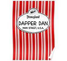 Dapper Dans Nametag - Red Poster