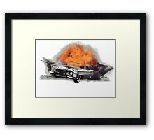 Increase Your Gears: The World Is Exploding! Framed Print