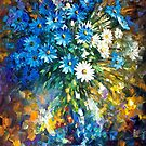 Bouquet Of Happiness — Buy Now Link - www.etsy.com/listing/209930949 by Leonid  Afremov
