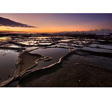 Bar Beach Rock Platform 4 Photographic Print