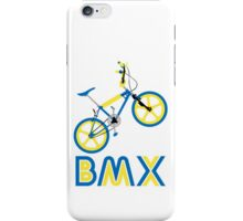 BMX (Blue & Yellow) iPhone Case/Skin