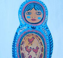 Not the Littlest of the Bunch Matryoshka by apcomfort