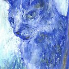 Side Glance (pastel) by Niki Hilsabeck