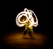 Fire Twirler by Lass With a Camera