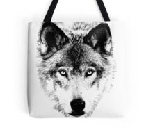 Wolf Face. Digital Wildlife Image. Tote Bag