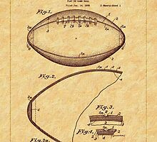 1939 Football Patent by Barry  Jones