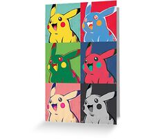 Warhol Pikachu Greeting Card