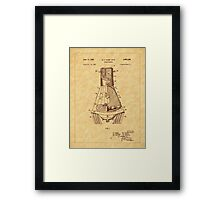 1963 Space Capsule Patent Framed Print