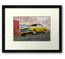 Yellow Holden HK Monaro Framed Print