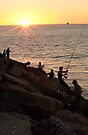 Fishing At Sunset by EOS20
