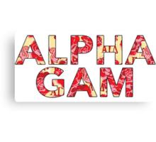 Alpha Gamma Delta - Krass & Co. Pattern 2 Canvas Print