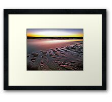 Tide Lines, Hunters Creek, Cape Leveque Framed Print