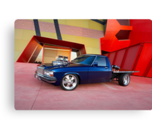 Supercharged Blue Holden HX Ute Canvas Print