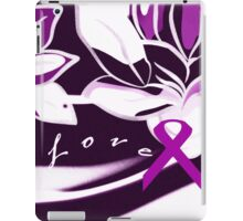 Purple Uterine Fibroid Fundraiser for Malinda iPad Case/Skin