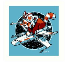 Red Panda, Standing By Art Print