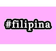 Filipina - Hashtag - Black & White Photographic Print