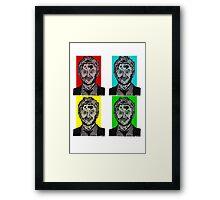 Zombie Chris Hardwick @nerdist fanart Framed Print