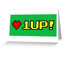 8-bit 1UP Greeting Card