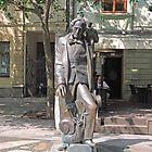 Statue, Hans Christian Andersen and Jiminy Cricket. by Margaret  Hyde